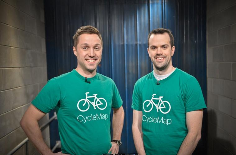 L'ancien étudiant coop Olivier Carbonneau (droite) et son complice David Boudreault ont réussi à convaincre les dragons d'investir dans leur entreprise Ratomic Lab et, surtout, dans l'application CycleMap.