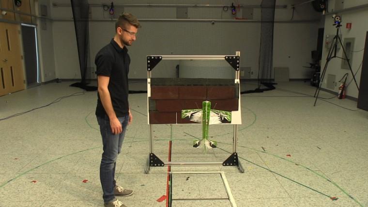 Dino Mehanovic, étudiant à la maîtrise en génie mécanique,sous la supervision du professeurAlexis Lussier Desbiens