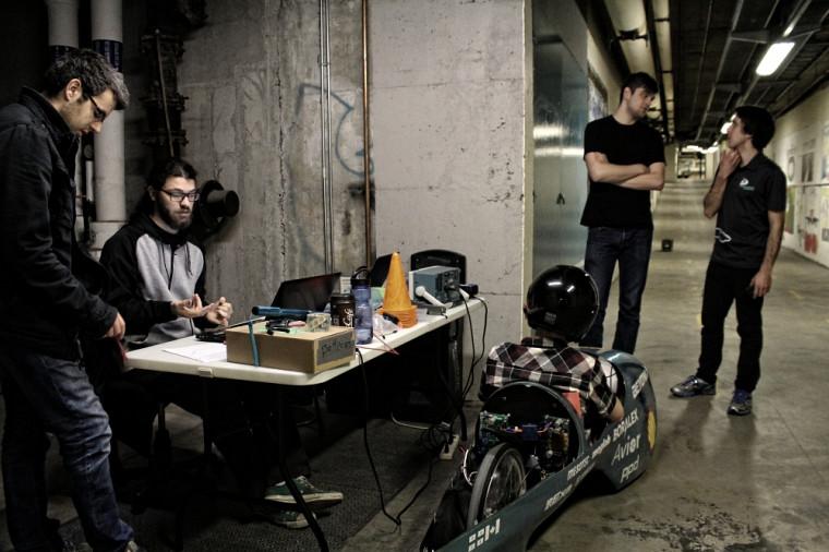 Tests du projet Beyond dans les tunnels de l'UdeS avant la compétition de Détroit