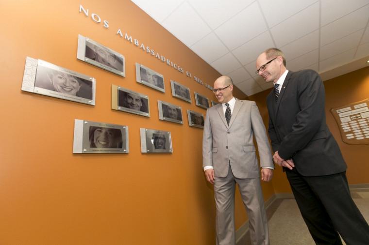 Claude Jean, ambassadeur 2014 de la Faculté des sciences, et Richard Blouin, secrétaire de faculté