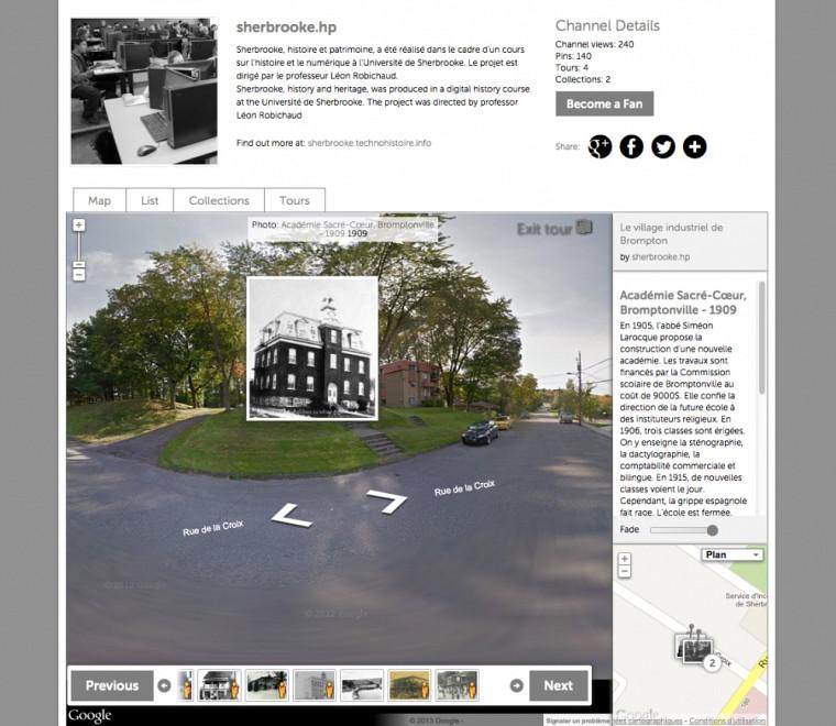 Exemple d'un lieu répertorié et commenté sur le circuitLe village industriel de Brompton : Académie Sacré-Coeur, Bromptonville