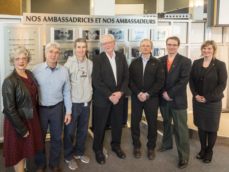 la Galerie des ambassadrices et ambassadeurs a été dévoilée lors de l'événement de reconnaissance de la FASAP.