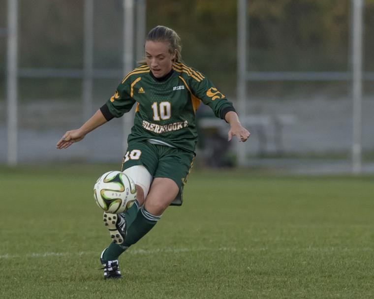 Audrey Lagarde a marqué trois buts en deux matchs le week-end dernier, dans des gains faciles de 5-0 et 3-1 du Vert & Or.