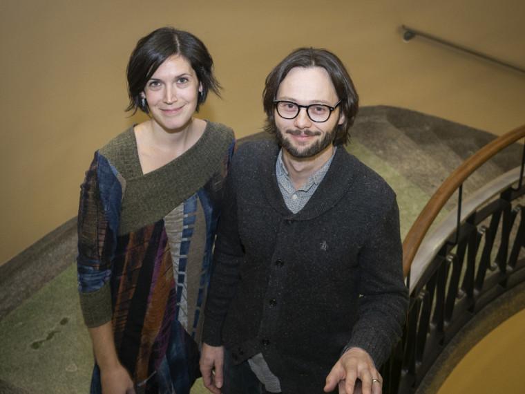 Hugo Larochelle et sa conjointe Angèle St-Pierre viennent de créer le Fonds Angèle St-Pierre et Hugo Larochelle pour soutenirles activités de développement du Département d'informatique.