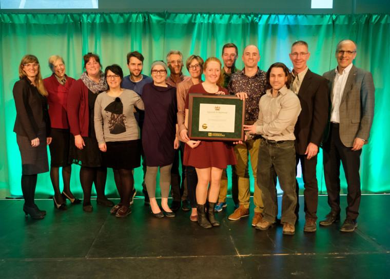 Les lauréates et lauréats du prix facultaire Reconnaissance de la qualité de l'enseignement de la Faculté des sciences de l'activité physique.