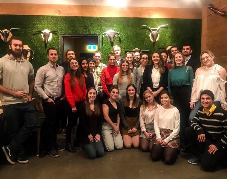 Une soirée de coaching Enactus, à l'automne 2018