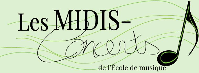 Les Midis-concerts de l'École de musique.