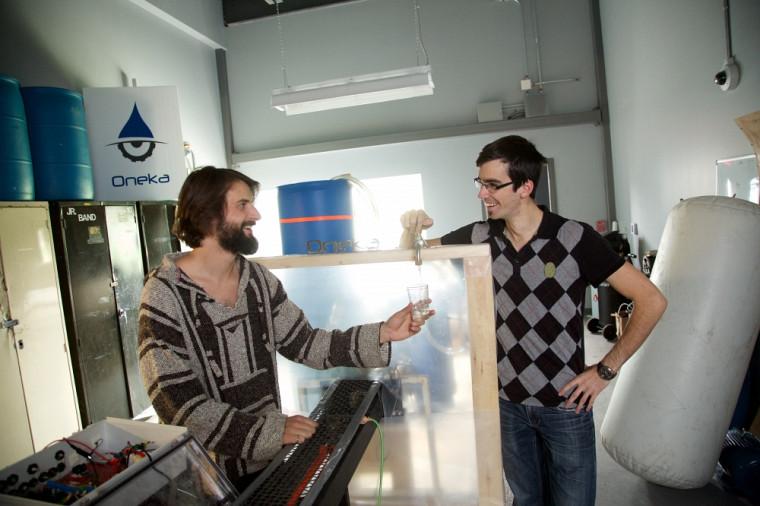 Renaud Lafortune et DraganTutić, cofondateurs de Oneka Technologies