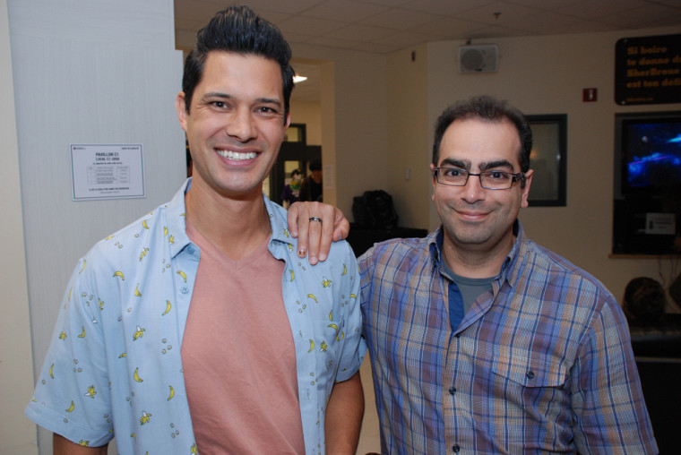 Les professeurs Mathieu Nuth et Nadi Braidy étaient présents au dévoilement des résultats.