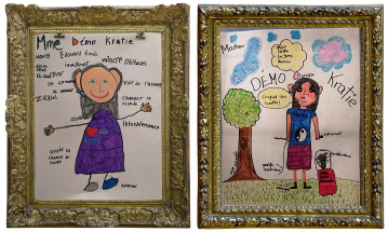 Mme Démo Kratie vue par les élèves de l'école La Traversée.