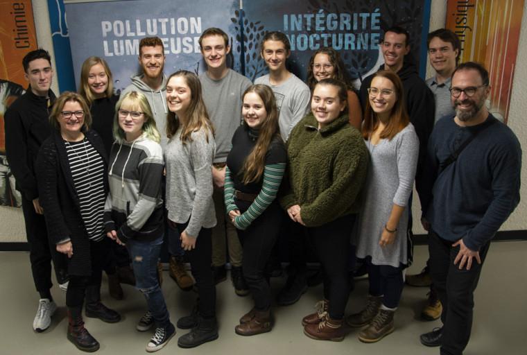 Les membres et collaborateursdu Centre de recherche sur la pollution lumineuse du Cégep de Sherbrooke.