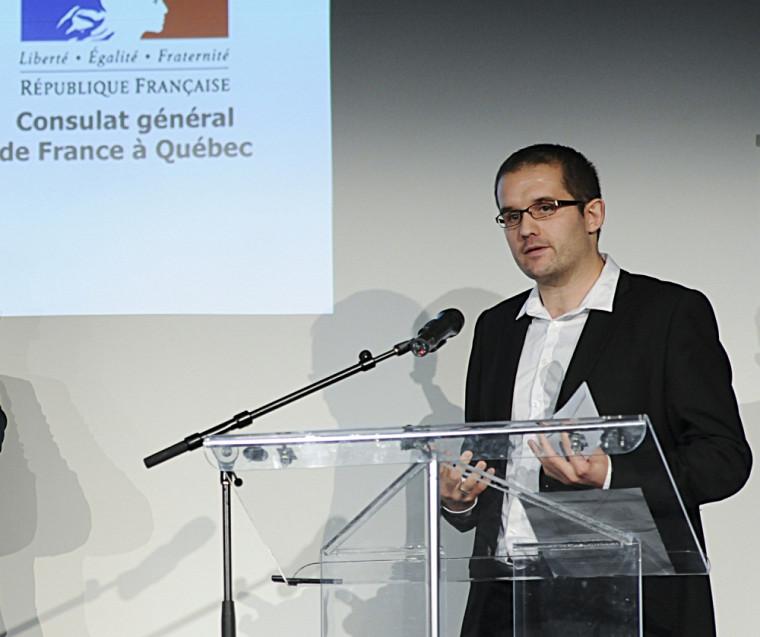 François Aubry, doctorant en gérontologie, a remporté le Prix de la thèse en cotutelle.