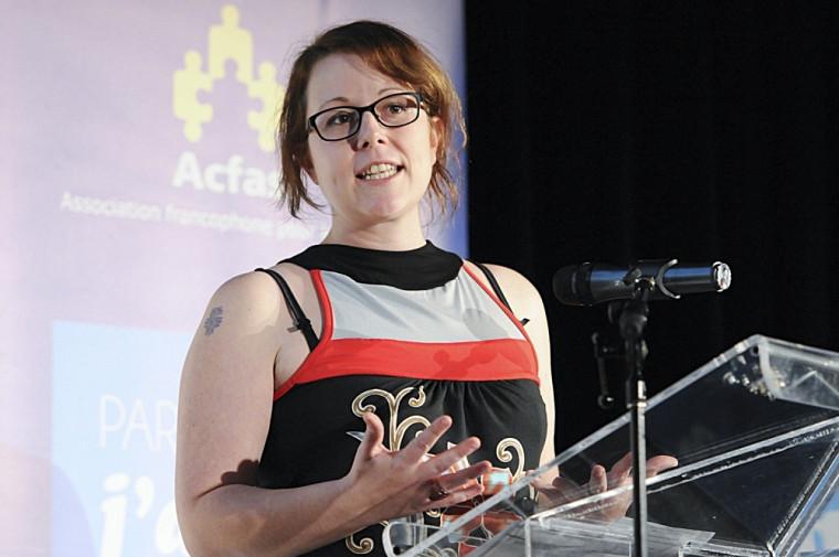 Marie-Ève André, étudiante à la maîtrise en biologie, a remporté le Concours de vulgarisation de la recherche.