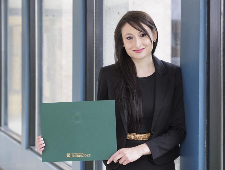Ariane Ouellet, diplômée en common law et droit transnational.