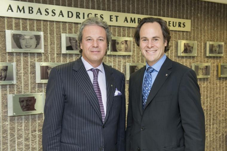 Me Manlio Del Negro en compagnie du doyen Sébastien Lebel-Grenier.