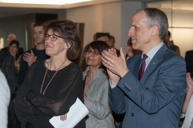 La rectrice, Luce Samoisette et le recteur élu, Pierre Cossette.