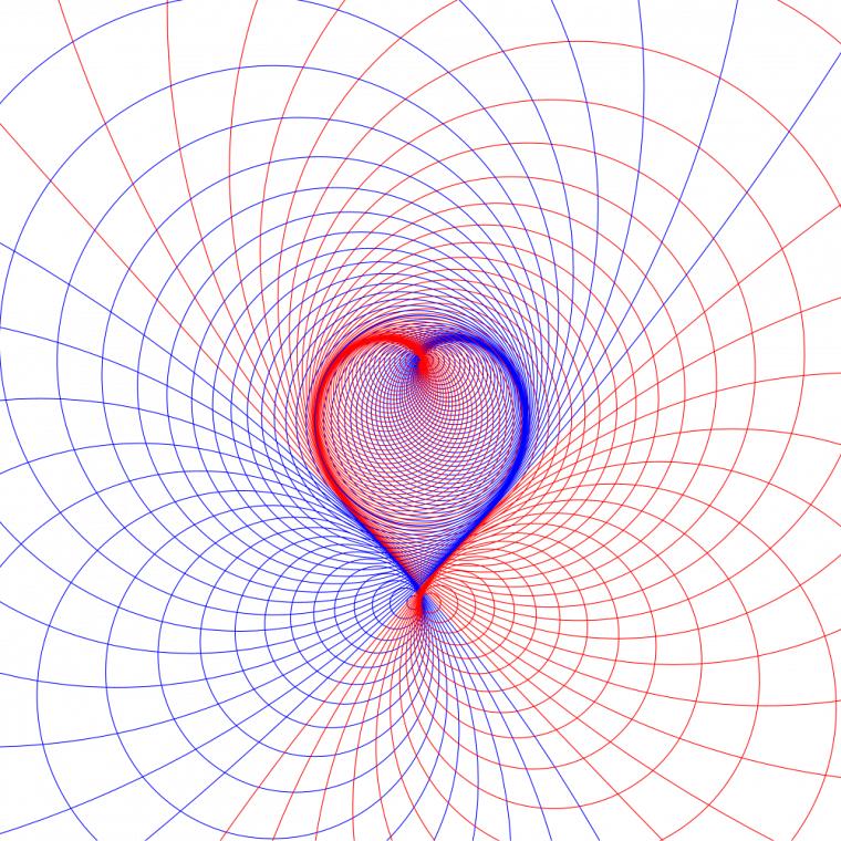 Courbe de Véronèse donnant l'illusion de la forme d'un cœur