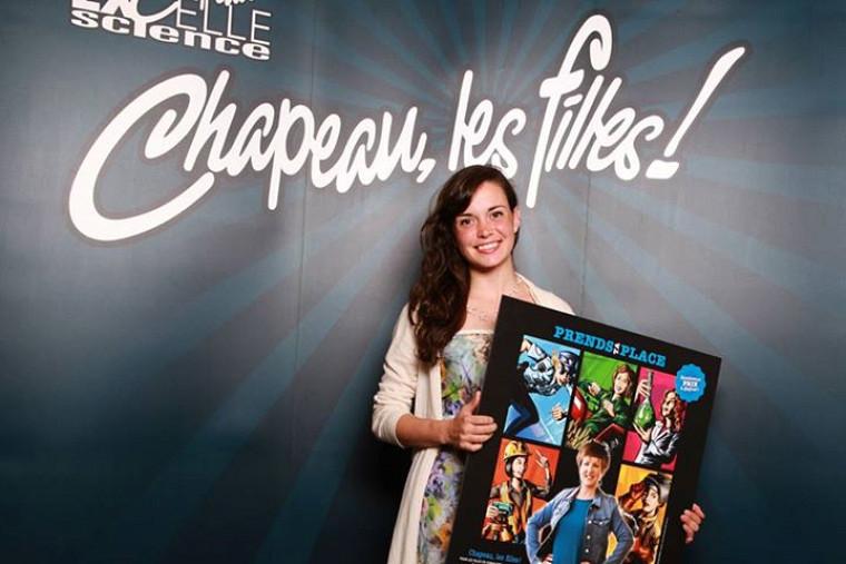 L'étudiante Charlotte Smetankaest lauréate du prix Excelle Science 2014-2015 au concours Chapeau, les filles!