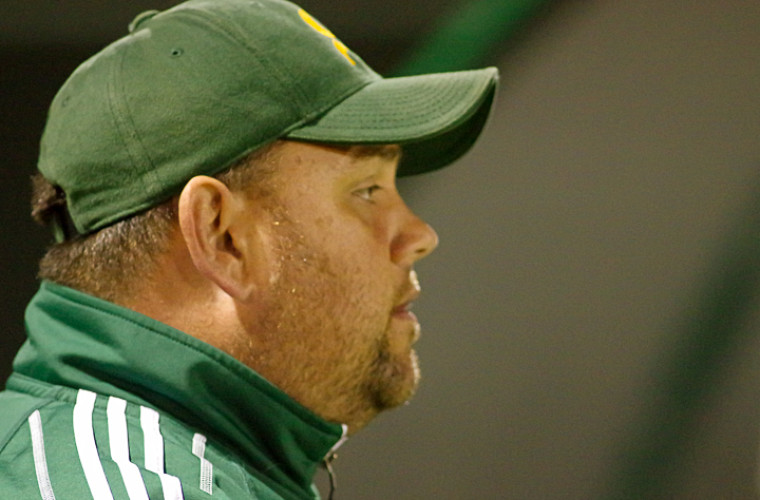 David Guicherd, entraîneur de l'équipe masculine de soccer Vert & Or.