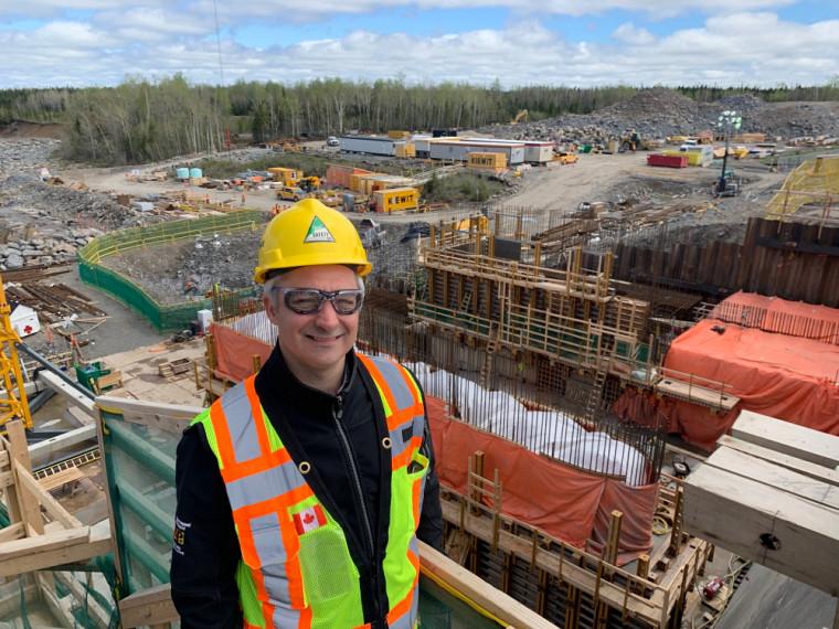 Notre diplômé Simon Gagné sur le chantier de Little Long Dam
