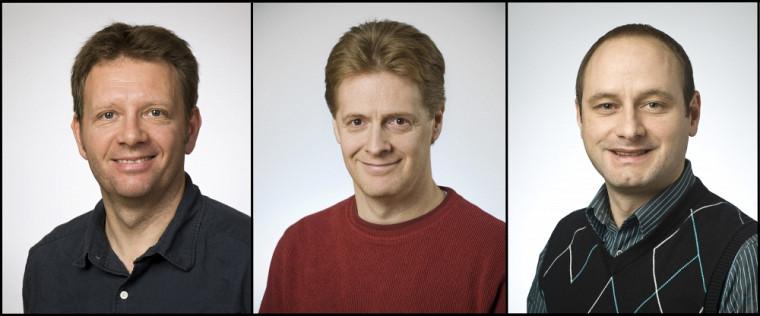 Les professeurs Bertrand Reulet, Patrick Fournier et Michel Pioro-Ladrière, principaux chercheurs du projet NIQUIST.