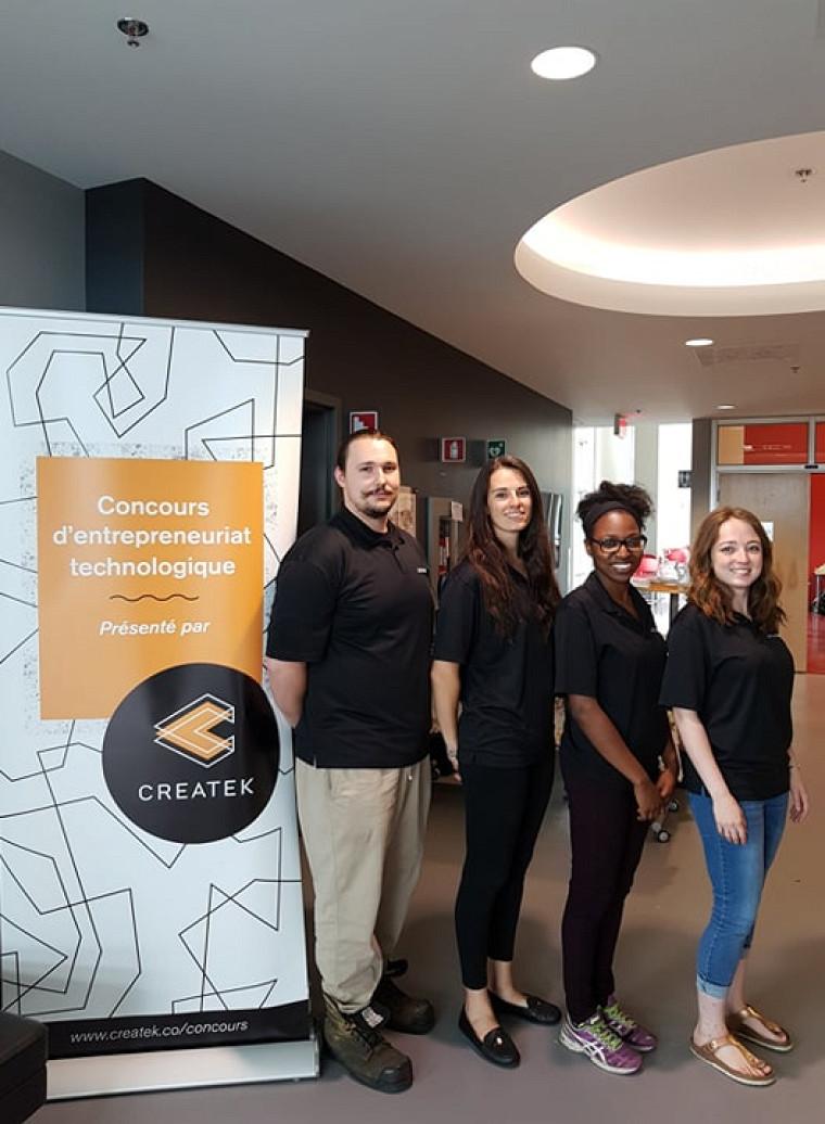 L'appui de Createk a permis à l'équipe de vivre pleinement leur projet entrepreneurial.Photo d'archives, prise avant l'entrée en vigueur des mesures sociosanitaires actuelles.