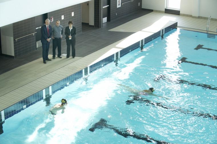 Le nouveau bassin de 25m.