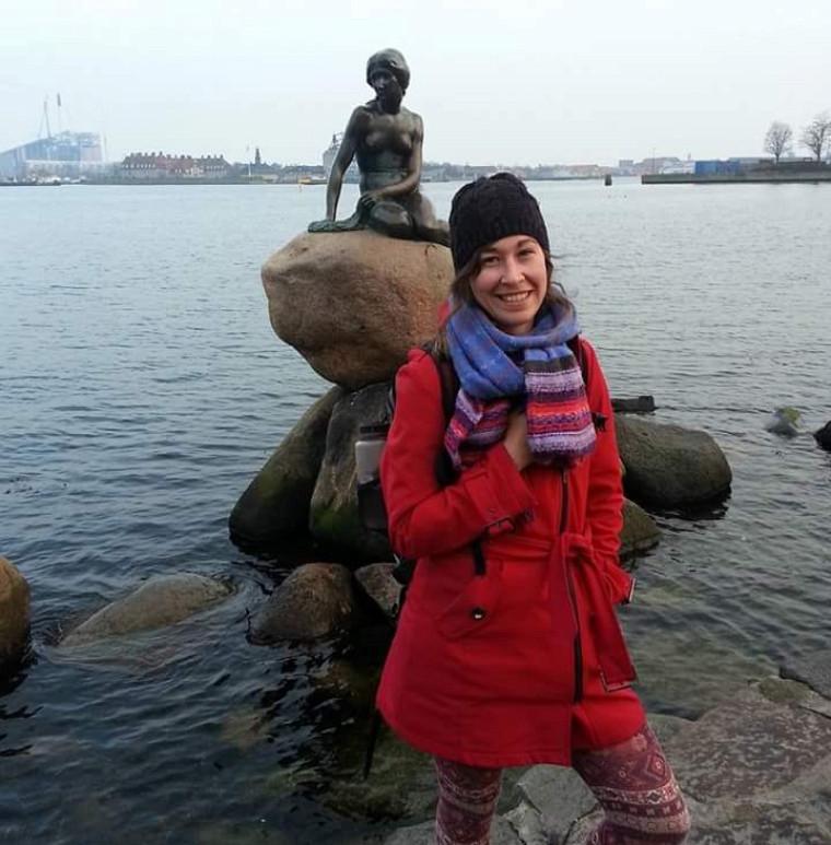 Andréanne Labbé, présentement en stage à l'ONU, à Copenhague