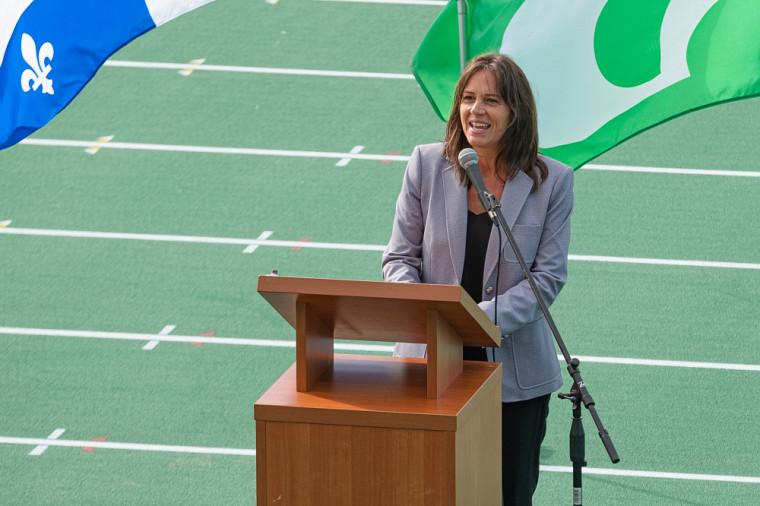 Isabelle Charest, ministre déléguée à l'Éducation, ministre responsable de la Condition féminine et députée de Brome-Missisquoi.