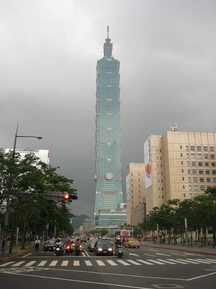 La tour Taipei 101 comporte 101 étages, d'où son nom.