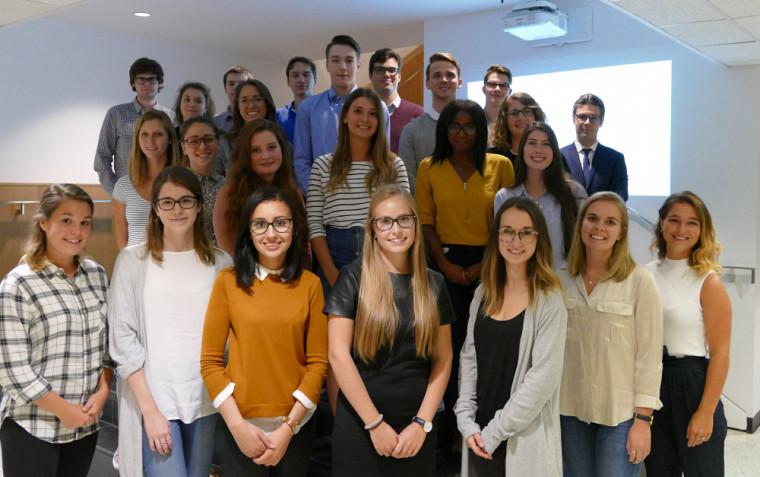 Quelques bénévoles de l'équipe 2017 du Centre d'entraide à l'étude en droit.