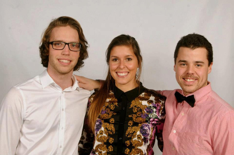 L'équipe gagnante en stratégie marketing, Yann Vallée, Karelle Gagnon et Bruno Renaud.
