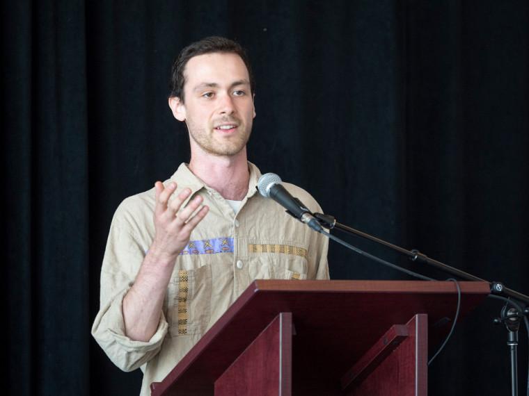 Vincent Boisclair, étudiant au baccalauréat en environnement et candidat dans la catégorie Personnalité 1er cycle