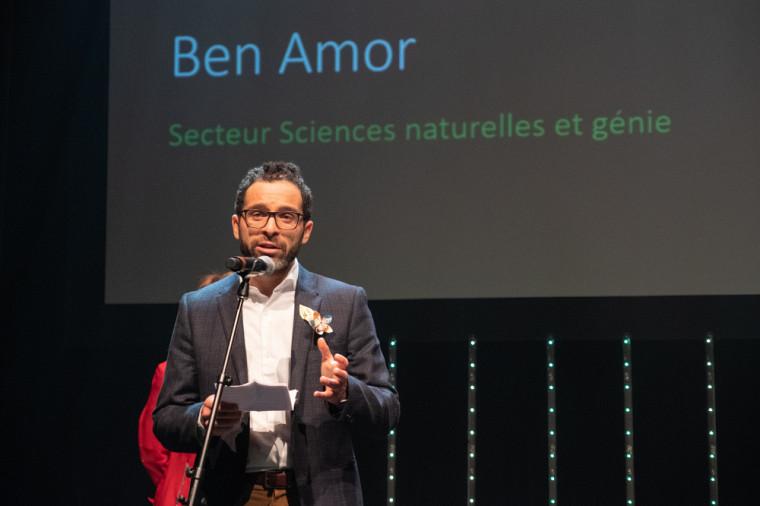 Le récipiendaire du Prix Tremplin en Sciences naturelles et génie, le Pr Mourad Ben Amor.