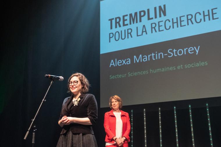 La Pre Alexa Martin-Storey s'est mérité le Prix Tremplin en Sciences humaines et sociales.