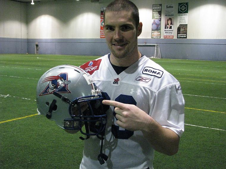 Benoît Boulanger apprécie son expérience avec les Alouettes de Montréal.