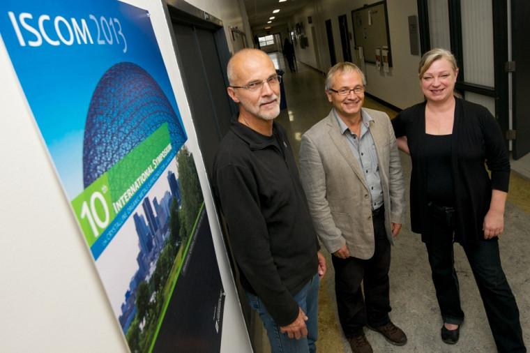 Mario Poirier, Claude Bourbonnais et Dominique Parisé ont organisé le 10e ISCOM, une première au Canada.