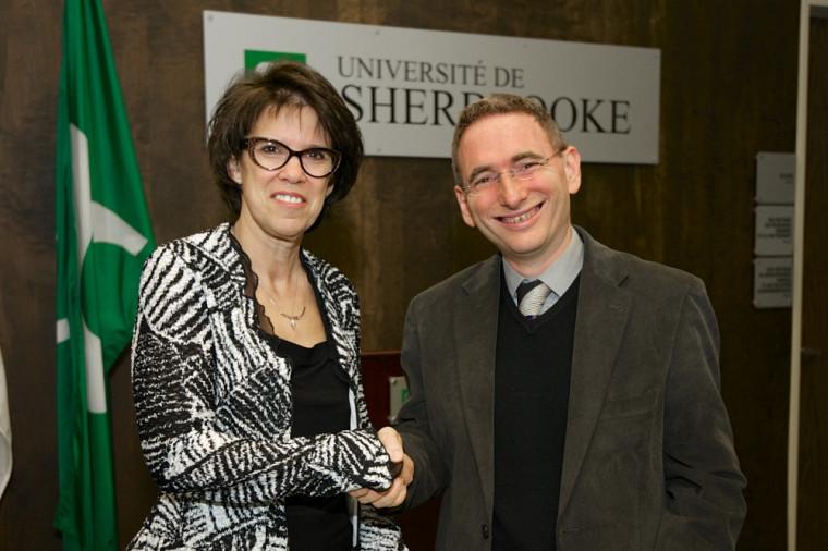 La rectrice Luce Samoisette et le président de l'Université Blaise Pascal Clermont-Ferrand, Mathias Bernard, se sont rencontrés.