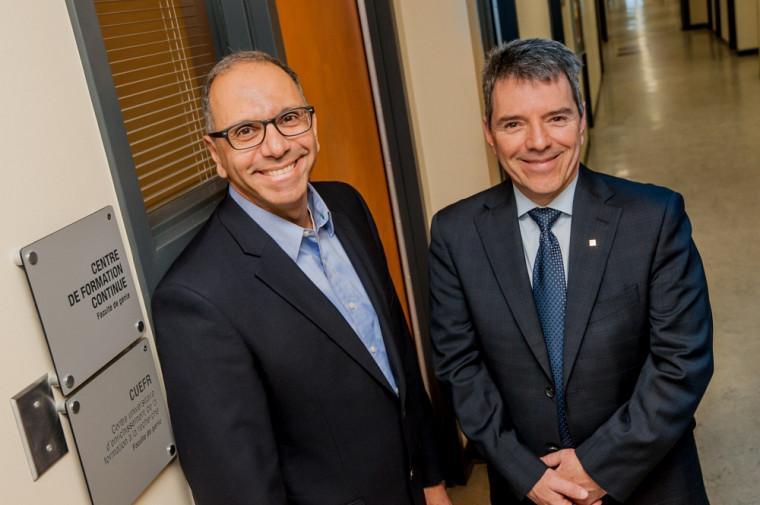 Richard Maziade, ing., chargé de cours, et Michel Noël, ing., directeur du Centre de formation continue de la Faculté de génie