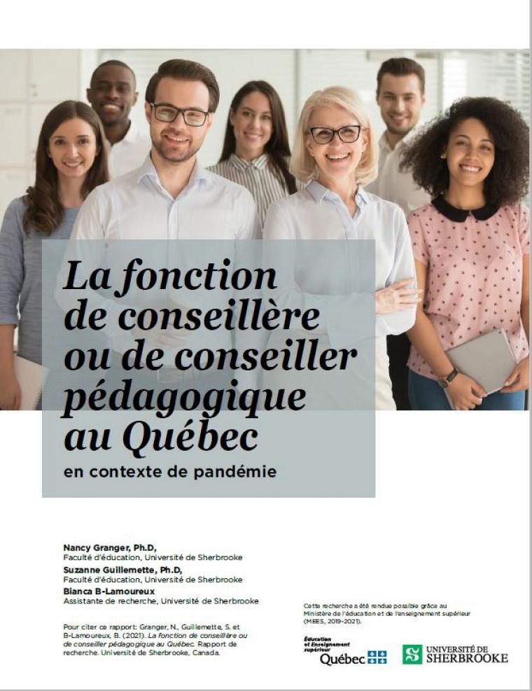 La fonction de conseillère ou de conseiller pédagoqique au Québec en context de pandémie