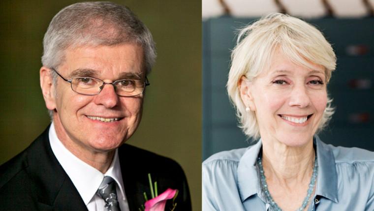 MeDenis Paré et Mme Josette D. Normandeau, nouvellement élus à la présidence et à la vice-présidence du conseil d'administration de l'UdeS.