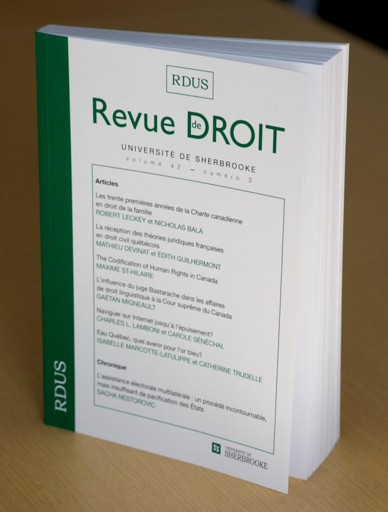 Revue de droit de l'Université de Sherbrooke, vol.42, no3, Les Éditions Revue de droit, Université de Sherbrooke, 2012, 330p.