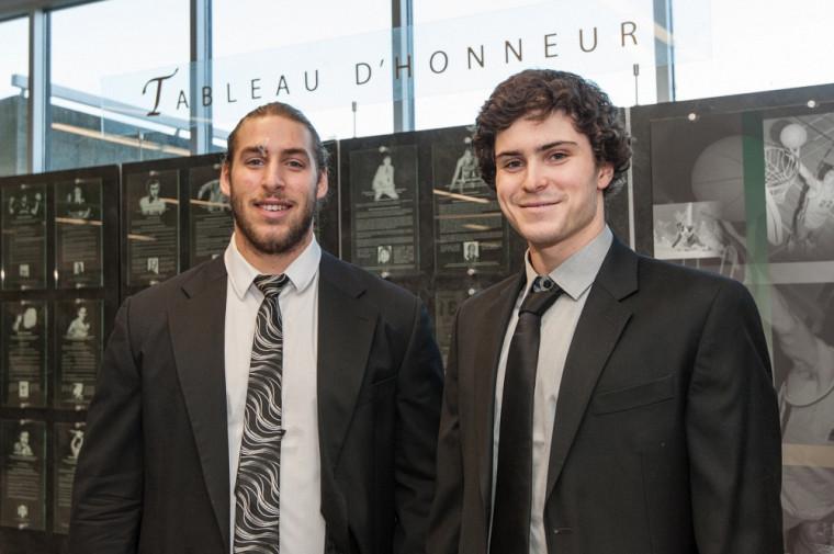 Marc-Antoine Lafrenaye-Dugas (athlétisme) et Jonathan Naisby (natation) sont finalistes dans deux catégories pour les titres à l'enjeu du prochain Mérite sportif de l'UdeS.