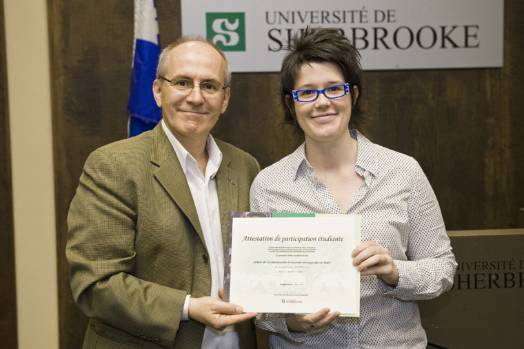 Martin Buteau et l'étudiante en orthopédie Elisabeth Leblanc