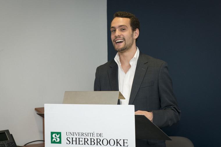 Marc-Antoine Marquis, étudiant en médecine et finaliste dans la catégorie Personnalité 1ercycle.