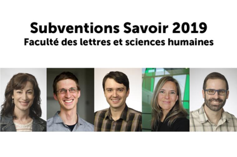 La Pre Louise Bienvenue, le Pr François Claveau, le Pr Maurice Demers, la Pre Allison Marchildon ainsi quele Pr Sébastien Carrierse verront octroyer une subvention pour leur projet de recherche respectif.