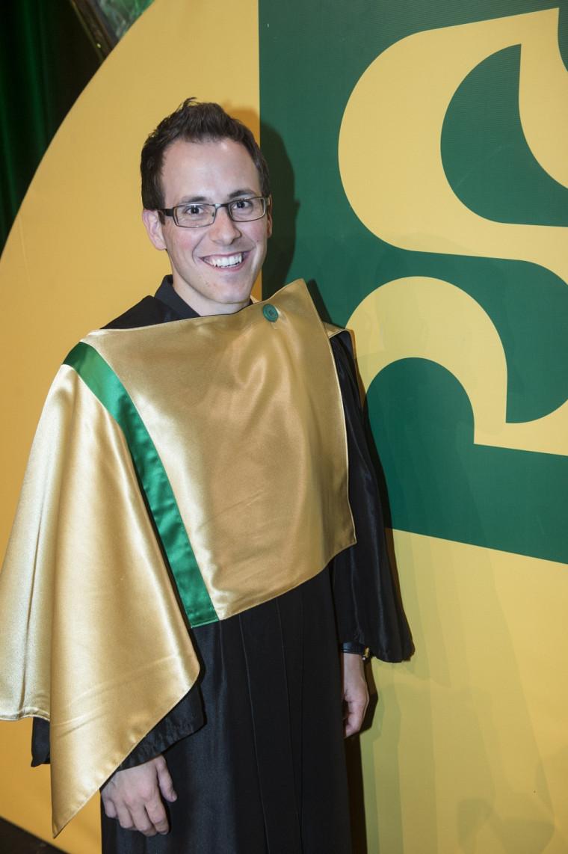 Maxime Delisle, étudiant à la Faculté de médecine et des sciences de la santé