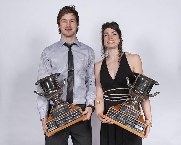 Simon Charbonneau Campeau et Pascale Délisle ont été choisis athlètes par excellence en 2011-2012.