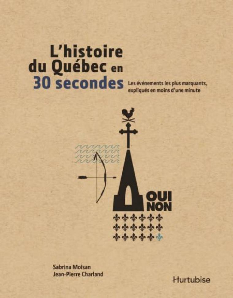 Sabrina Moisan et Jean-Pierre Charland, L'histoire du Québec en 30secondes, Montréal, Éditions Hurtubise, 2014.