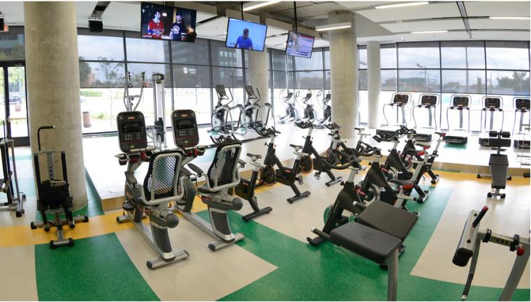 La salle d'entraînement du Campus de Longueuil a vu le jour à l'automne 2017 et propose des équipements dernier cri.
